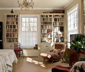 builtin-bookshelves-bedroom-ideas